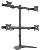 Quad Monitor Heavy Duty Stand Free Standing Desk Mount / 4 LCD Screens up to 70cm