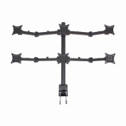 NavePoint Hex LCD Monitor Desk Mount Stand Heavy Duty Adjustable 6 Screens upto 60cm Black