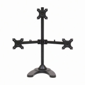 NavePoint Triple LCD Monitor Desk Stand/Mount Free Standing Adjustable 3 Screens upto 60cm Black