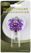 Prestige Medical S14 Deluxe Retractable ID Holder, Butterfly