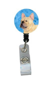 French Bulldog Retractable Badge Reel or ID Holder with Clip SS4761