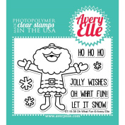 Avery Elle Clear Stamp Set 10cm x 7.6cm -Oh What Fun