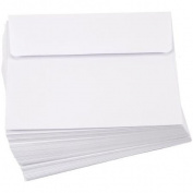 Smooth A2 Envelopes (11cm x 15cm ) 50/Pkg-White