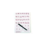 Ashley Productions ASH912CU Traditional Cursive Write-On- Wipe-Off Board 9 X 12