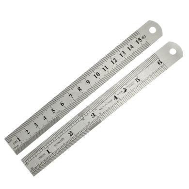 uxcell® 2 Pcs School Office 15cm Measuring Range 0.5mm Accuracy Straight Ruler