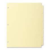 Business Source Plain Tab Index - Write-on - 22cm x 28cm - 36 / Box - Canary Tab