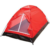 BNFUSA SPTENT2XLRD Extra-Long Red 2-Person Waterproof Tent with Detachable Rain Fly