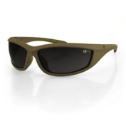 Bobster Zulu Ballistics Eyewear, Coyote Tan Frame, Anti-fog Smoked