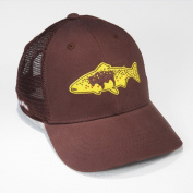 Rep Your Water Hat Wyoming Flag Brown Trout - Brown/Brown