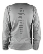 Rep Your Water Fish Spine Long Sleeve Performance Tee - Small - Platinum