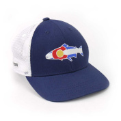 Rep Your Water Hat Colorado Flag Trout - Navy/White