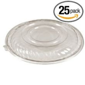 PartiPak PETE Clear Salad Bowl Lid Only, 9460ml -- 25 per case.