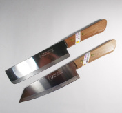 Chef's Knife Cook Utility Knives Set 2 KIWI Brand 171172Cutlery Steak Wood Handle Kitchen Tool Sharp Blade 17cm Stainless Steel