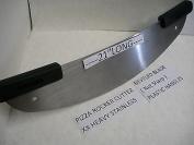 50cm Pizza Rocker Cutter,Xx Hvy.Stainless Commercial Use Knife Slicer