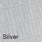 Permanent Adhesive Vinyl Letters & Numbers .190cm 302/Pkg-Silver