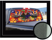 JESTER 41cm x 140cm - Rear Window Graphic - back compact pickup truck decal suv view thru vinyl