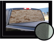 DESERT CAMO 41cm x 140cm - Rear Window Graphic - back compact pickup truck decal suv view thru vinyl