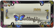 Cruiser Accessories 23053 Chrome 'Butterfly' Licence Plate Frame