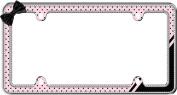 Cruiser Accessories 18536 Chrome/Pink/Black 'Retro Polka Dot' Bling Licence Plate Frame