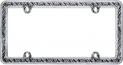 Cruiser Accessories 18503 Chrome/Clear 'Zebra' Bling Licence Plate Frame