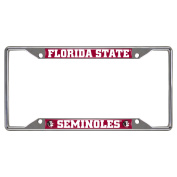FANMATS Licence Plate Frames Ncaa - Florida State University Licence Plate Frame Chrome 14859