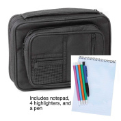 Bible Cover - Canvas Organiser w/Study Kit Extra Large Black