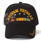 Vietnam Veteran Shadow Black Adjustable Cap