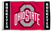 NCAA Ohio State Buckeyes Flag with Grommets, 0.9m x 1.5m, Team Colour