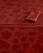 Homewear Harvest Berkshire Leaves Collection Spice 150cm x 300cm Oblong Tablecloth