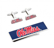 University of Mississippi Ole Miss Cufflinks and Money Clip Gift Set