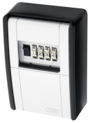 ABUS 787 C Key Safe 4-Dial Resettable Combination Key Storage Wall Mount Box, Black