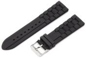 Hadley-Roma Men's MS3344RA 220 22-mm Genuine Silicone Diver Sport Watch Strap
