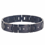 Men's Black Tungsten Diamond Bracelet