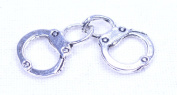 Silver Handcuff Charm for Jewellery or Paracord - 10 pack