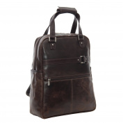 Piel Vintage Laptop Carry-All/Convertible Backpack