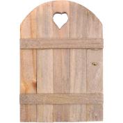 Mini Garden Fairy Door, 15cm x 10cm , Wood