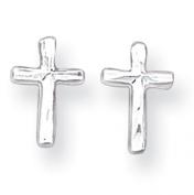 Sterling Silver Cross Mini Children Earrings