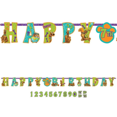 Scooby Doo Add-An-Age Letter Banner (Each)