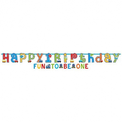 All Aboard 1st Birthday Letter Banner (Each)