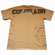Colorado Buffaloes Mens Short Sleeve T-Shirt Gear Faded Tan