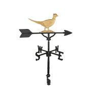 Montague Metal Products 80cm Weathervane with Gold Pheasant Ornament