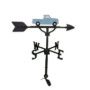 Montague Metal Products 80cm Weathervane with Teal Classic Truck Ornament