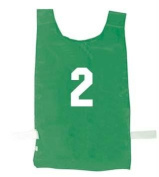 Nylon Numbered Pinnies - Green