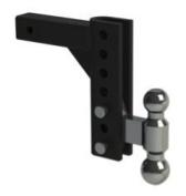 EZ HD 'Heavy Duty' Adjustable Hitch 20cm Drop, 5.1cm x 5.1cm - 0.8cm Combo Ball 10K/14K GTWR
