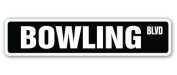 BOWLING Street Sign balls bags shirts alley team gift