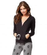 Aeropostale Womens Studded Hoodie Sweatshirt 001 S