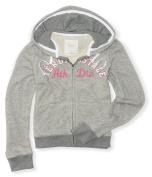 Aeropostale Womens Heathered Knit Full Zip Hoodie Sweatshirt 053 S