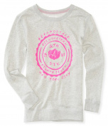 Aeropostale Womens Neon Shield Sweatshirt 052 XL