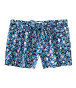 Aeropostale Womens Floral Print Waistie Casual Mini Shorts navyniblue M