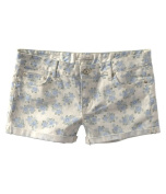 Aeropostale Womens Floral Print Rolled Cuff Casual Mini Shorts mint 7/8